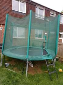 Trampoline (10ft) with safety net, ladders & protective cover