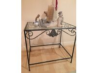 Iron and glass Coffee table, mint condition