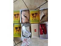 4 pairs of size 7 girl shoes used like new