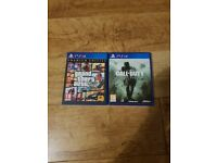 GTA 5 and Call of Duty Modern Warfare Remastered PS4 Games Bundle