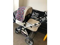 Pram/ stroller and car seat