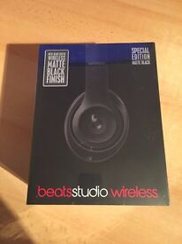 Brand New: Beats by Dr. Dre - Beats Studio Wireless Over-the-Ear Headphones - Matte Black