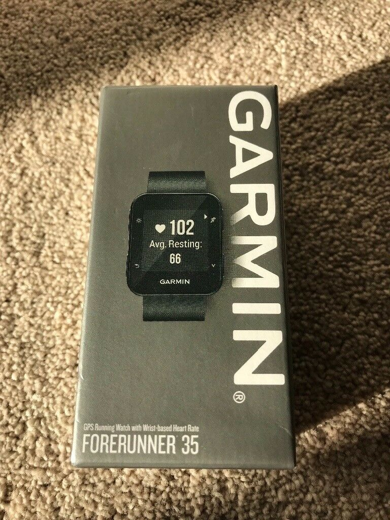3d9f9cd489e949 Garmin Forerunner 35 GPS Running Watch with Wrist-Based Heart Rate and  Workouts - Black