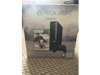 X Box 360(250 GB) console, 2 controllers (silver & original black), headset & 10 games bundle