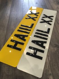 3D gel number plates / Show plates / tinted plates