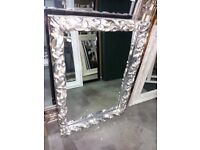 74cm x 105cm Ornate Mirror in Antique Silver Frame, £85
