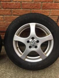VW golf standard alloys and tyres - 195/65/15