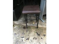 4 brown stools