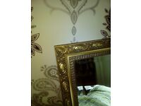 Gilt frame mirror