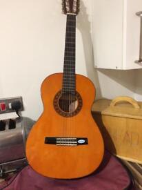 FULLY STRUNG AND WORKING GUITAR AND CASE VGC