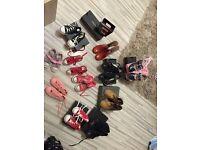 Kids converse, hunter boots, Lelli Kelly & timberland boots