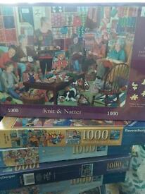 Jigsaw puzzle 1000 piece Knit & Natter