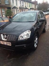 NISSAN QUASHQAI AUTO 57 PLATE BLACK FULLY LOADED