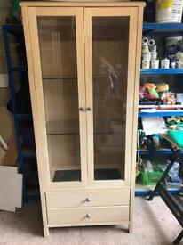 Display Cabinet, Coffee Table & Mirror Set