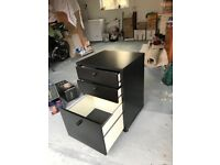 Black laminate drawer unit