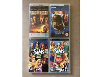 PSP Games - SIMS2, SIMS2 Pet, Doctor Who (UMD Video), Pirate of the Caribbean (Black Pearl)