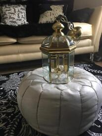 Solid brass bevelled glass hall lantern