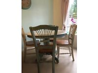 *free local delivery* Ann Sloan painted table and matching chairs