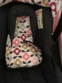Cosatto ooba pink pram 3in 1