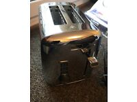 silver mirrored breville toaster