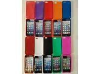 I phone cases. Assorted colours amount 50in total