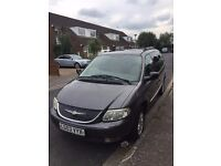 Chrysler Grand Voyager in Metallic Grey, fully loaded edition with electric rear doors & boot.
