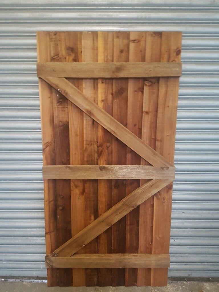 From £39.99 Wooden Garden Gate Featheredge Side Gate All sizes Heavy ...