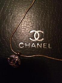 Chanel genuine hallmarked gold and sapphire pendant to match handbag! New!
