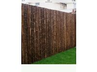 10 heavy duty extra thick bamboo screening panels just over 12 months old