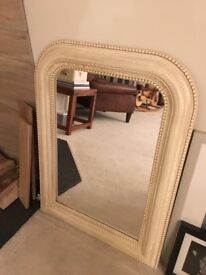Laura Ashley Ivory mirror with crackle effect frame