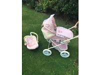 Baby Annabell pram and car seat