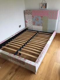 Double bed plus ottoman for sale