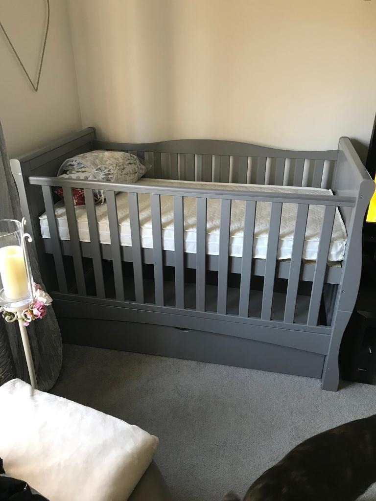 Mason Grey Sleigh Cot Bed In Toton Nottinghamshire