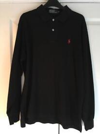 Ralph Lauren long sleeved polo shirt size M