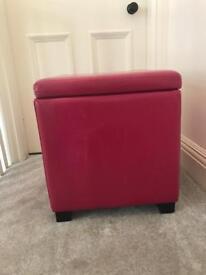 Leather Storage stool/Seat