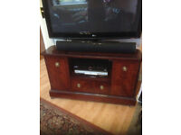 Tv cabinet with shelf for dvd player ect