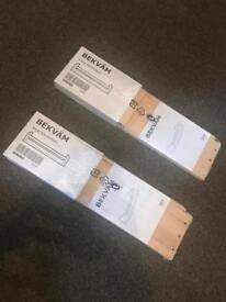 2 Ikea Bekvam spice racks/shelf