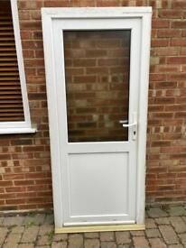 Upvc white double glazed door 910 x 2070