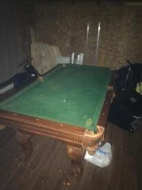 Beautiful slate bed pool table
