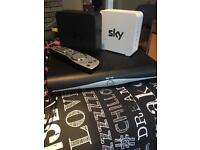 SKY +HD BOX, REMOTE, TWO ROUTERS AND LOADS OF CABLES