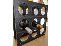Wine rack for 9 bottles