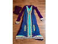 Blue and purple Asian dress size 12