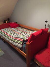 Single Scallywag Starter Bed and Silentnight Single Mattress