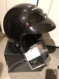 Christmas gift??! Rune black metallic motorbike scooter helmet szXXL but more like XL RRP £70box