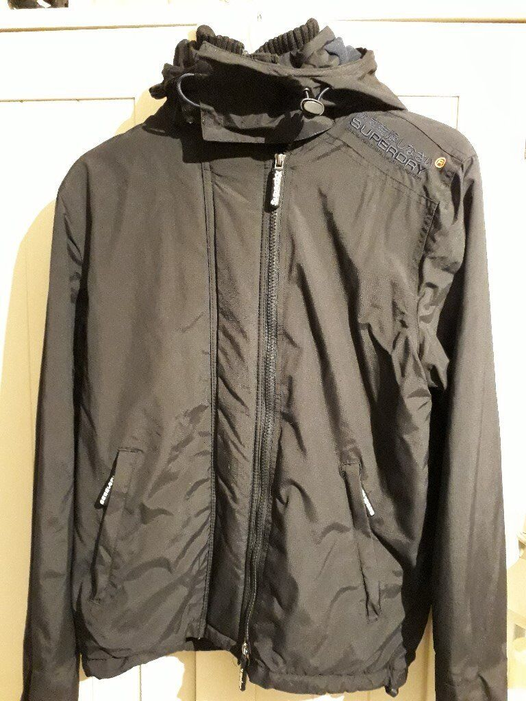 Youth/small man's Superdry Jacket, excellent condition, black.
