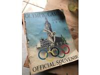 olympic games official souvenir 1948