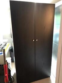 Black/brown ikea wardrobe