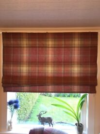 NEXT Red Tartan blinds (x2)