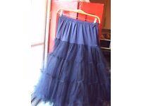 Women's Navy Blue Netted Lindy Bop Underskirt, UK 8-14