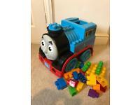 Large mega bloks Thomas the tank engine storage and bricks boys building toy toddler